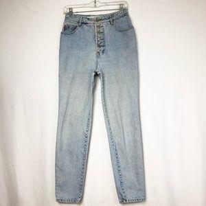 BONGO Jeans - Bongo Vintage 80s Button Fly Mom Jeans Light Wash